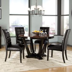 Standard Furniture Eclipse 5 Piece Round Dining Table Set 76999