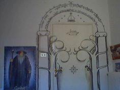 9a06281006e2 Durin s door stenciled on someone s bedroom door. Is it sad that I d  consider