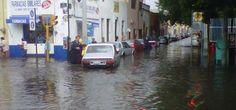 Fuertes lluvias colapsan calles de Querétaro