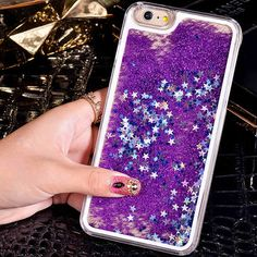 i6 6S Dynamic Liquid Glitter Sand Case For iPhone 6 6S Plus 7 Plus Crystal Clear Quicksand Star Back Cover For iPhone 6S 7 Plus