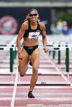 Olympic Trials Eugene 2012: Womens' 100 meter hurdles, Lolo Jones. Photo © Kevin Morris Photography