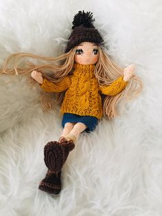 Halloween Crochet Patterns, Crochet Dolls Free Patterns, Crochet Vs Knit, Diy Crafts For Teen Girls, Handmade Soft Toys, Crochet Elephant, Knitted Dolls, Fairy Dolls, Cute Dolls