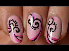 Nail art : le stylo facile rapide, via YouTube.