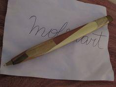 Wooden Pencil Mosaic  by Molinart por Molinart en Etsy