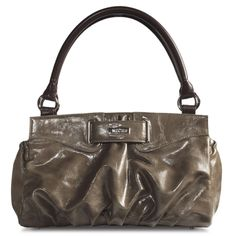 STACY. - RETIRED - Light brown faux leather with gather detail and full ends. Beautiful.