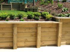 photos of wood retaining walls | Timber Retaining Wall