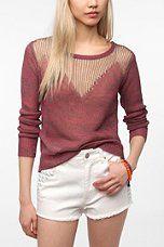 Sparkle & Fade Drop-Stitch Pullover Sweater