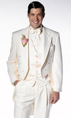 GROOMS MODERN WEDDING ATTIRE | Best Selling Ivory Unique Modern Worsted Wedding Tuxedo Groom Wear Men ...