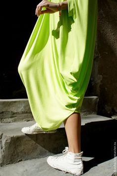 Купить Летнее платье NEON - салатовый, неоновый цвет, неоновое платье, летнее платье
