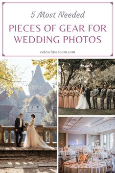 Want to take wedding photos? Learn more about necessary lenses, cameras, flashes, and additional gear to consider for wedding photography. Wedding Photography Tips, Photography Gear, Portrait Photography, Cameras, Lenses, Wedding Photos, Inspiration, Ideas, Marriage Pictures