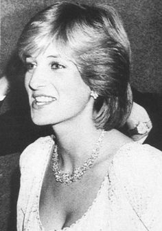 "March 8, 1982: Princess Diana at the charity premiere of ""The Little Foxes"" starring Elizabeth Taylor, at the Victoria Palace Theatre in London."