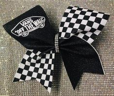 Vans Black and White Checkerboard Cheer Bow Vans Black and White Checkerboard Cheer Bow Sublimated Glitter Vinyl Black and White Checkerboard Vans Cheer Bow<br> Sublimated Glitter Vinyl Black and White Checkerboard Vans Cheer Bow Cute Cheer Bows, Cheer Hair Bows, Big Bows, Cheer Bow Tutorial, Cheer Tryouts, Cheer Practice, Cheerleading Outfits, Cheerleading Stunting, Cheer Quotes
