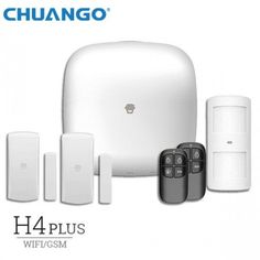 NEW! Chuango H4 Plus WiFi / GSM / GPRS Smart Home Σύστημα Συναγερμού / Alarm System www.bmac.gr Philips Hue, Smart Home, Wifi, Headphones, Apple, Smart House, Apple Fruit, Ear Phones, Apples