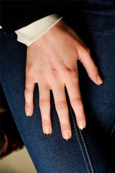 thakoon • fw2012 • nude nails with black tips