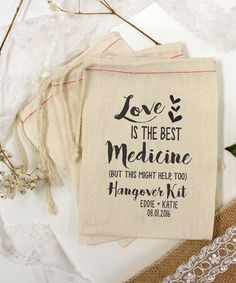 Another great find on #zulily! Black 'Love Is' Hangover Kit Personalized Bag - Set of 25 by Stamp Out Online #zulilyfinds