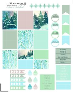 Hello and Welcome. The Winter Wonderland weekly sticker set includes everything you need to plan a winter layout in your planner. This set has