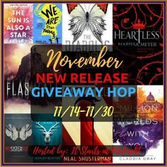 Enter this giveaway for a chance to win a November new release worth $16. Good luck!     a Rafflecopter giveaway   The winner will b...