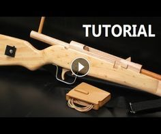 Bolt action rubber band gun - 5 Dolar plans and tutorial.