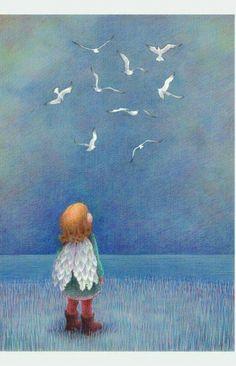 No voy a subir dolores, ni rencores, esas cosas que pesan en el alma. Prefiero subir sueños, esperanzas, fe. Esos buenos sentimientos dan alas a mi corazón. Yo alzo el vuelo... Incluso con los pies en el suelo. Elliana García