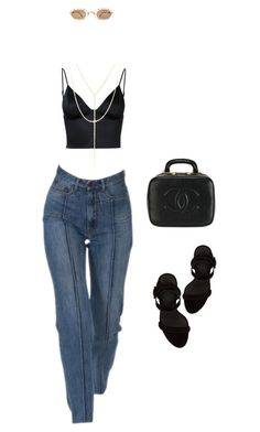 """""""Untitled #474"""" by zeroinspo on Polyvore featuring T By Alexander Wang, South Moon Under, Chanel, Matsuda and Alexander Wang"""