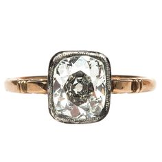2.06 Carat Diamond Russian Victorian Engagement Ring | From a unique collection of vintage engagement rings at http://www.1stdibs.com/jewelry/rings/engagement-rings/