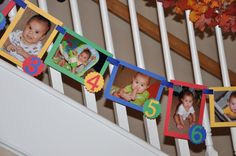 12 Month Photo Banner  Primary Colors by uniquelymedesigns on Etsy, $20.00