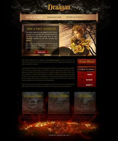 Fantasy Game Web Template