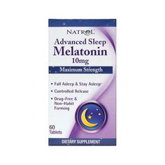 Natrol®, the leader in melatonin, is now offering the maximum strength 10mg dosage! Melatonin, a hormone made by the pineal gland of the brain, helps regulate your sleep and wake cycles.