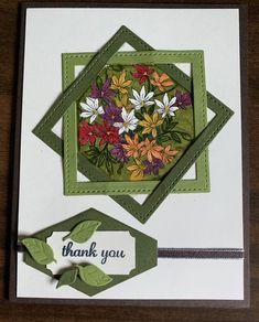 Use Stampin up dies for squares? Fancy Fold Cards, Folded Cards, Making Greeting Cards, Greeting Cards Handmade, Card Making Techniques, Stamping Up Cards, Handmade Birthday Cards, Card Sketches, Paper Cards