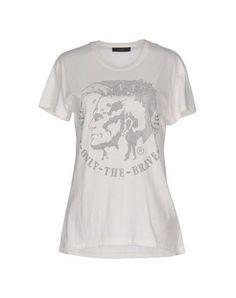 DIESEL Women's T-shirt Ivory XL INT
