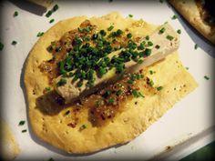 Focaccia, foie, poma, mostassa i cibulet @diegoalias @rogeralcaraz @franzXXVII