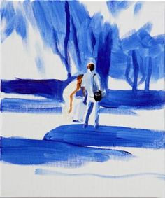 "Saatchi Art Artist Grażyna Smalej; Painting, ""Bride with a photographer"" #art"