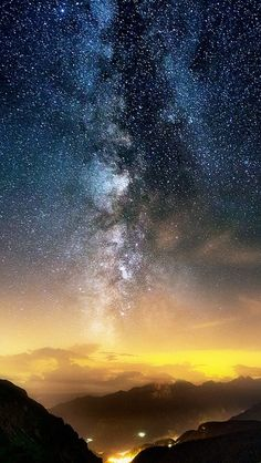 Galaxy-View-From-Earth-Mountains-Night-iPhone-Wallpaper - iPhone Wallpapers Cute Love Wallpapers, Cool Wallpaper, Mobile Wallpaper, Wallpaper Backgrounds, Iphone Wallpapers, Ipad Background, Shades Of Gold, World Photography, Christmas Wallpaper