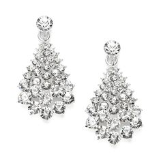 Crystal Cluster Wholesale Wedding or Prom Dangle Earrings - Mariell Bridal Jewelry & Wedding Accessories