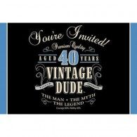 Find Vintage Dude Invitation plus other party supplies. We offer the most wanted party supplies & accessories, all available with reduced wholesale prices! 50th Birthday Party Invitations, 50th Party, 40th Birthday Parties, Birthday Celebration, Surprise Birthday, 70th Birthday, Birthday Ideas, D 40, Party Supplies