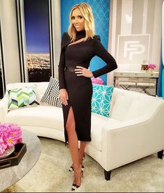 LOTD tonight's @fashionpolice: dress by  @_zhivago_ // ring by @laurieflemingjewellery // shoes by @louboutinworld // styled by @becmgross // hair by @extbymissbrown // makeup by @annapetrosian_ // Tune in tonight!!!
