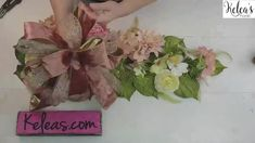 Today we are going to be using a premade swag base to help you get a quick win in your next romantic floral door swag! With just a few supplies and tools required plus your premade velvet bow you can have this simple door swag done in little to no time! Elegant Home Decor, Elegant Homes, Diy Home Decor, Door Swag, Spring Decorations, Spring Wreaths, Diys, Floral Design, Bow