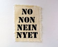 No Patch Canvas Punk Patch Feminist Patch Stencil Screenprint on Etsy, $2.00