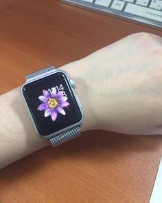 내가 좋아하는 워치 페이스 꽃무늬 ㅎㅎ #애플워치#applewatch#applewatchsports#smartwatch by luna__rin