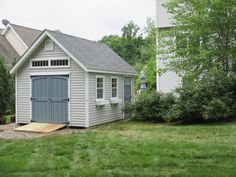 Make your shed an extension your home! These customers chose their Manor Cape siding color to match their home. Backyard Storage Sheds, Shed Storage, Built In Storage, Backyard Buildings, Shed Colours, Siding Colors, Diy Shed Plans, She Sheds, Potting Sheds