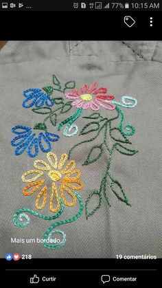Herb Embroidery Cushion Embroidery Silk Ribbon Embroidery Embroidery Applique Embroidery Patterns Hand Embroidery Stitches Cross Stitch Embroidery Brazilian Embroidery Needle And ThreadThis Pin was discovered by Mer Herb Embroidery, Cushion Embroidery, Brazilian Embroidery Stitches, Eyebrow Embroidery, Embroidery Tattoo, Embroidery Stitches Tutorial, Embroidery Needles, Silk Ribbon Embroidery, Hand Embroidery Designs