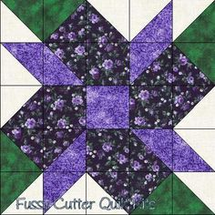 Scrappy Fabric Calico Flowers Easy Pre-Cut Quilt Blocks Kit