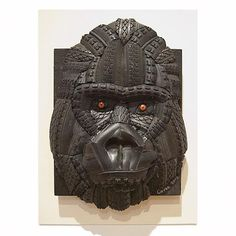 """""""Gorilla"""" from recycled bike tires by Andrew Corke"""