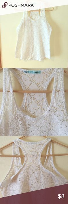 Cream lace tank top Maurice's cream lace tank top Tops Tank Tops