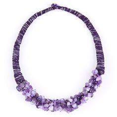 Africano Chunky colar de pingente de pedra Natural de jóias jóias roxo jóia de mineiro em Colares gargantilha de Jóias & Acessórios no AliExpress.com | Alibaba Group