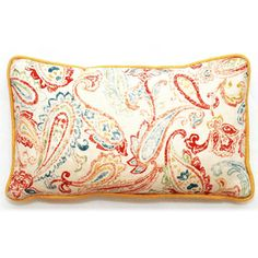 @Overstock.com - Bali Collection Rectangular Paisley Throw Pillow - This handcrafted throw pillow features an intriguing paisley print in a vibrant palette. This rectangular pillow is constructed of heavyweight linen with handmade linen welt trim.  http://www.overstock.com/Home-Garden/Bali-Collection-Rectangular-Paisley-Throw-Pillow/7896269/product.html?CID=214117 $54.89