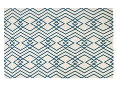 Check size - too geometric? Lina Large Eastern Inspired Geo Wool Rug 160 x Blue Sofa Design, Furniture Design, Paris Living Rooms, Tapis Design, Loft Room, Flat Ideas, Moroccan Style, Berber Rug, Modern Rugs