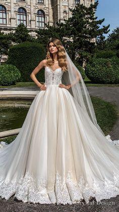 crystal design 2018 strapless sweetheart neckline heavily embellished bodice romantic princess ball gown wedding dress rasor lace back chapel train (emma) mv #weddinggowns #weddingdress