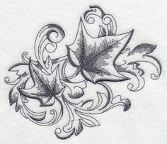 Baroque Ivy Flourish design (K4551) from www.Emblibrary.com