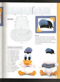Paperino disney donald duck amigurumi 5 - magiedifilo.it punto croce uncinetto schemi gratis hobby creativi